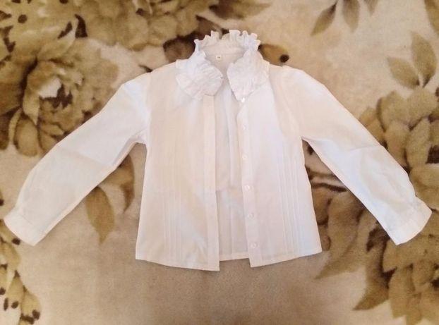 Блузка школьная для девочки р.122