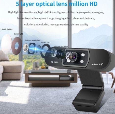 Веб камера ASHU H800 со встроенным микрофоном USB 2.0 1080P для видео