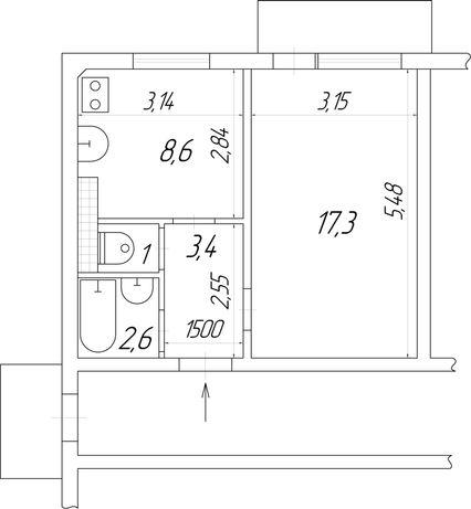 Продам 1-к квартира в c. Центральне, вул. Центральна 61, Київська обл.