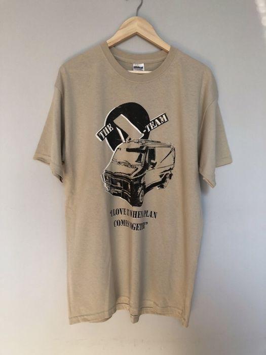 Beżowa koszulka vintage drużyna a Van Mgc boxy gildan Warszawa - image 1