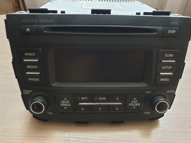 Штатная CD Bluetooth магнитола на KIA Sorento 2013-2014