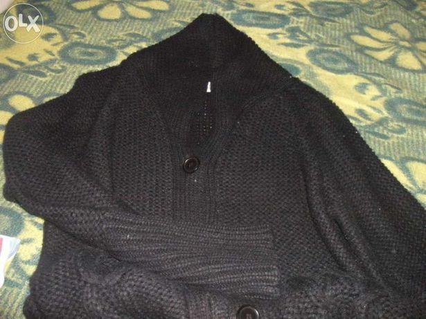 Casaco preto comprido xl