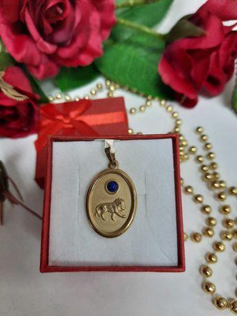Złota zawieszka złoto 375 z lwem horoskop