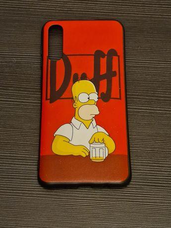 Samsung A50 - silikonowe etui The Simpsons, Homer, Duff