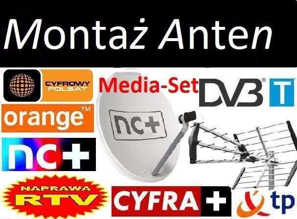 NC+ Zestaw antenowy satelitarny 80 CM ustawianie montaz anten BIŁGORAJ