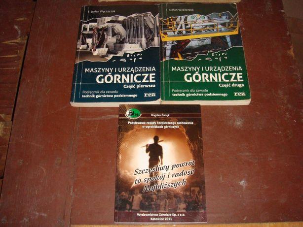 Podręczniki Maszyny i urządzenia górnicze 3 książki