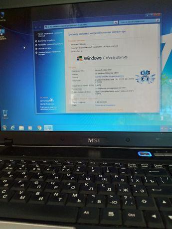 "Ноутбук MSI. Екран 15"""