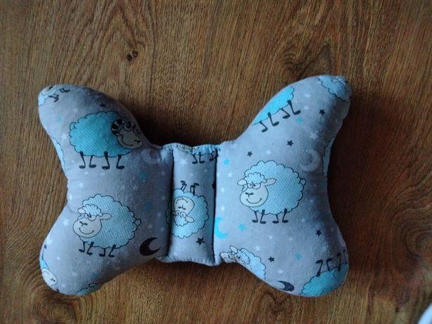poduszka motylek, antywstrząsowa, baranki, niemowlak
