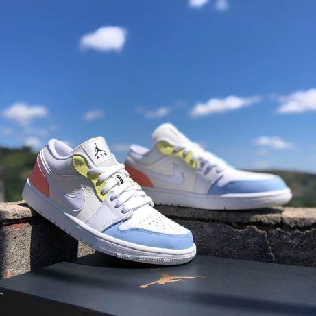 Air Jordan 1 Low Sail Summit White Citron