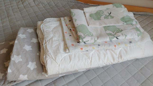 2x Kołdra dziecięca: 1.Ikea LENAST+ 2.handmade; + 2x komplet pościeli