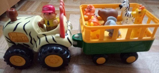 Игровой набор Kiddielan трактор Сафари