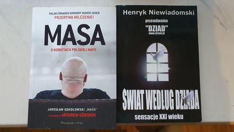 """2 książki ,,Masa"""" i ,,Dziad""""."""