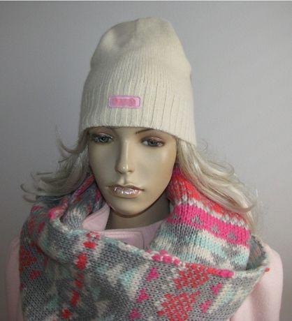 czapka wełniana Hooch krem M