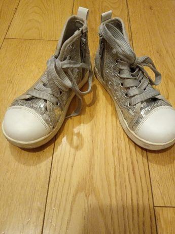 Buty dziewczęce srebrne