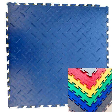 Podłoga posadzka wykładzina PVC PCV puzzle mata garaż hala
