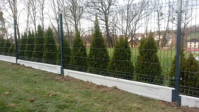 Ogrodzenie panelowe 3d 2d montaż W CENIE panele ogrodzeniowe 3d fi 4
