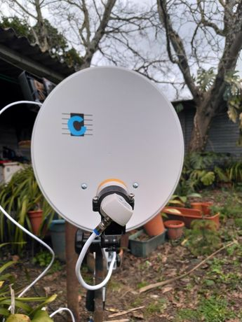 Kit portátil para recepção de tv satellite