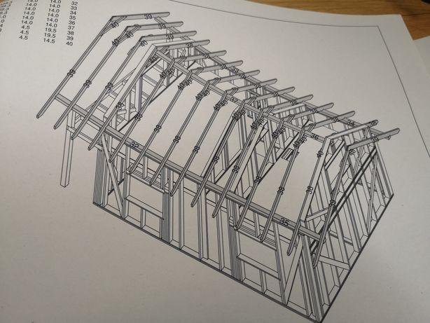 Projekt domu 35m2 na zgłoszenie szkieletowy instrukcja budowy
