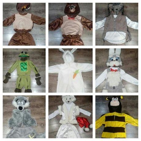Прокат костюм волка медведя зайчика шмеля лягушки ёжика мишки
