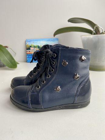 Ботинки демисезонные кожаные 27р