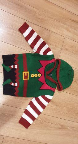 Sweter świąteczny Next rozm 92