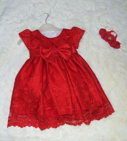 Аренда детское красное платье для девочки на 1-1,5 года