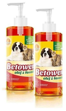 Betowen - olej z łososia dla kota i psa - pojemności 0,25l 0,5l 1l