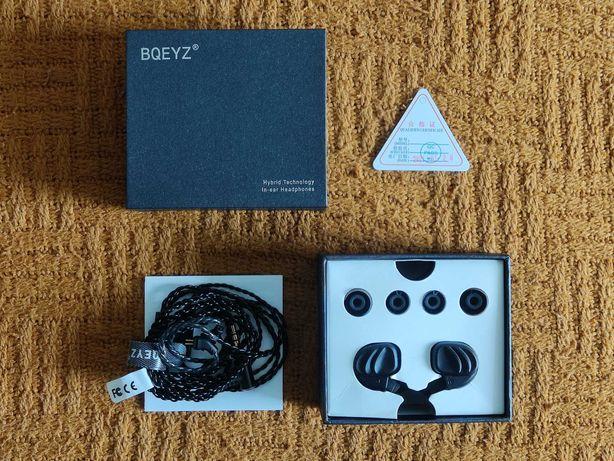 Słuchawki dokanałowe BQEYZ KC2, z mikrofonem (nowe)