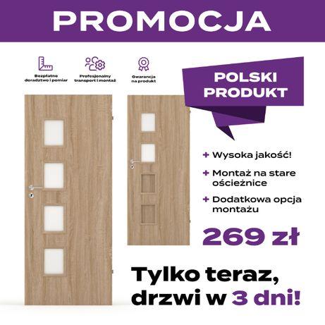 Drzwi wewnętrzne, pokojowe i łazienkowe promocja