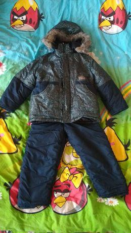 Детский Зимний Комбинезон, Куртка + Штаны на 3 - 4 года