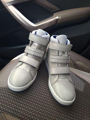 черевики на ліпучках шкіра
