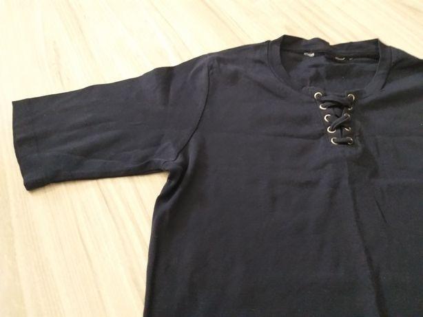 Granatowa wiązana bluzeczka