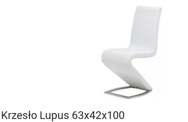 Białe krzesła Lupus 6 sztuk - używane