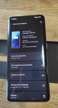 OnePlus 7T Pro 8/256 bom estado