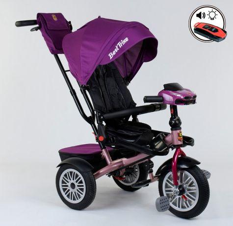 Трёхколёсный велосипед-коляска, поворот сидения, надувные колёса ровер