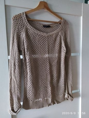 Sweter 36/38 Esmara beżowy, ażurowy