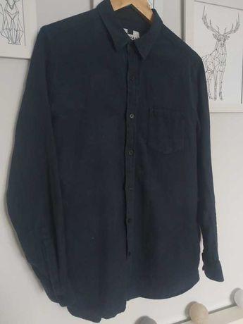 Granatowa męska koszula z kołnierzykiem elegancka rozmiar M Topman