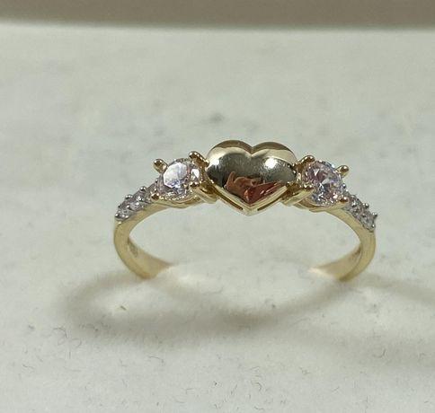 NOWY piękny złoty pierścionek 1,8g / 585 / r. 15