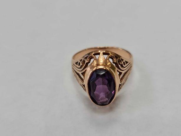 Wyjątkowy złoty pierścionek damski/ Radzieckie 583/ 4.96 gram/ R15
