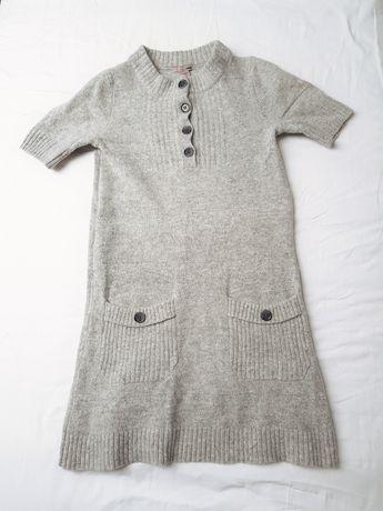 Sweterkowa sukienka angora / wełna s
