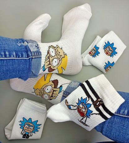 Високі носочки з принтами#надписами#приколами