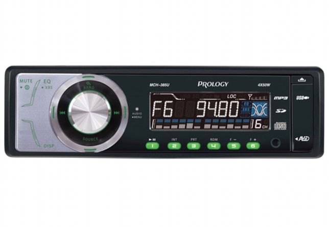 Auto Rádio Prology MCH 385  MP3 | USB | SD CARD | AUX IN | PRE OUT|CD