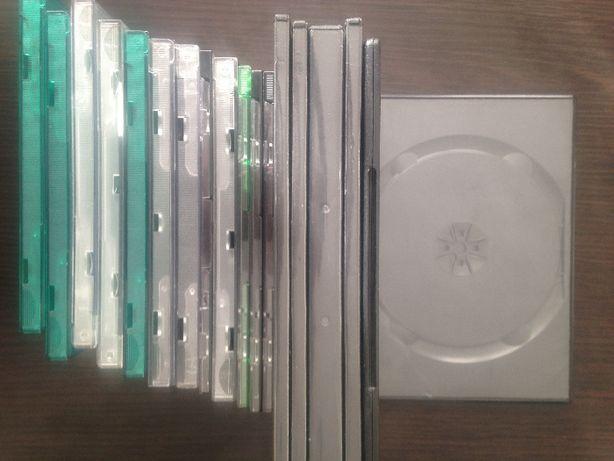 pudełka do płyt CD/DVD (14 szt + 13 szt) cena łączna za wszystkie raze