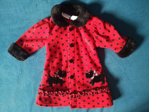 Płaszczyk kurtka kurteczka czerwona śliczna r. 74