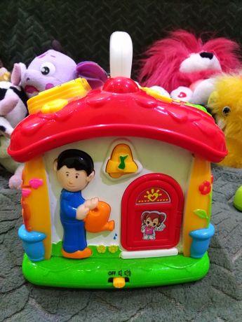 Интерактивная игрушка говорящий домик бу