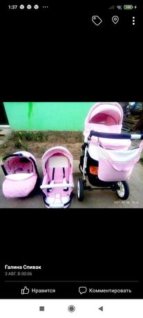 Продам красивую  3в1 колясочку для маленькой принцески