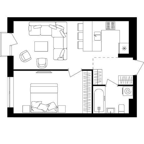 Продається однокімнатна квартира Avalon up в зданому будинку