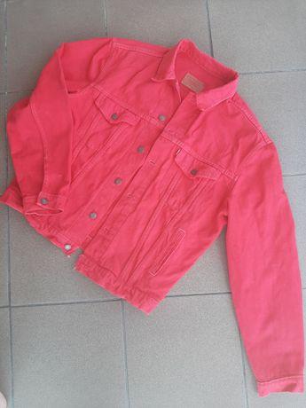 Vintage katana jeansowa levis 80s czerwona denim