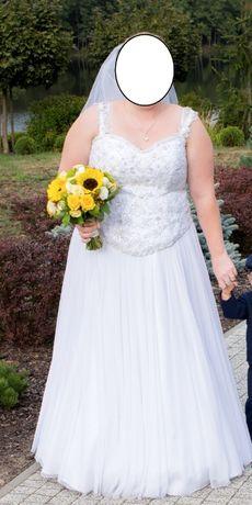 suknia ślubna rozmiar od 46 do 50 gorsetowa