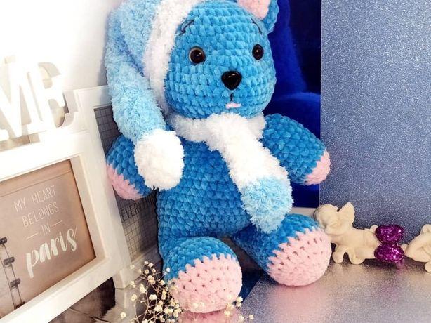 """В'язана іграшка """"Синій мішка"""""""